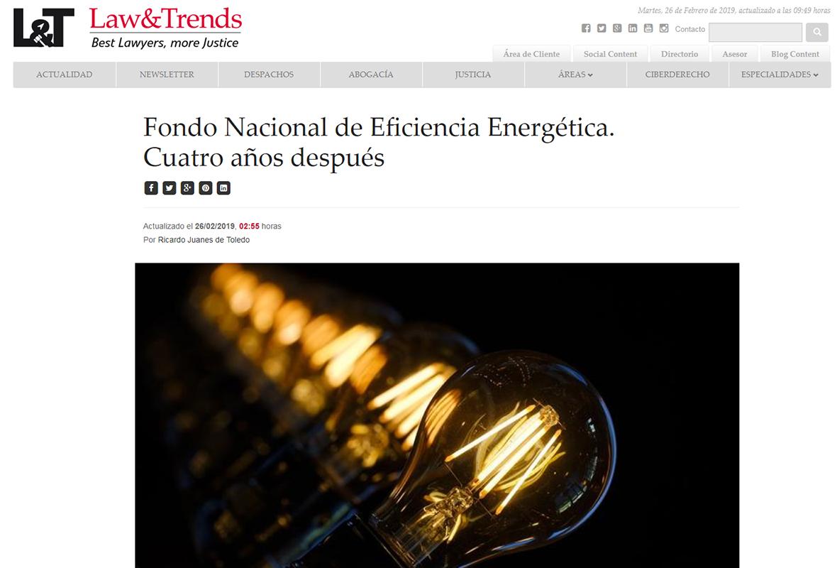 Law & Trends – Fondo Nacional De Eficiencia Energética. Cuatro Años Después